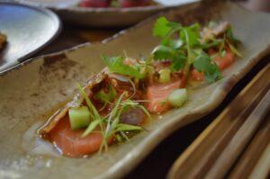 Gourmetgericht mit Lachs