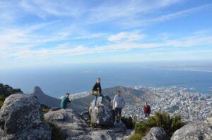 Söl'ring Hof-Team auf dem Table Mountain