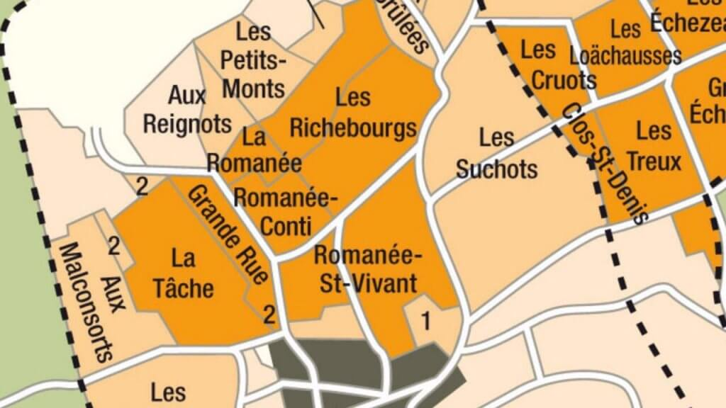 Landkarte Weingebiete