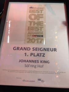 Best of the best awards | Johannes King