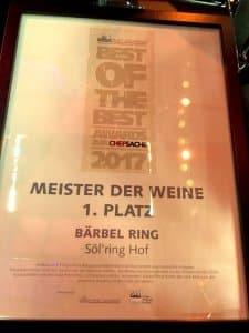 Best of the best awards | Bärbel Ring